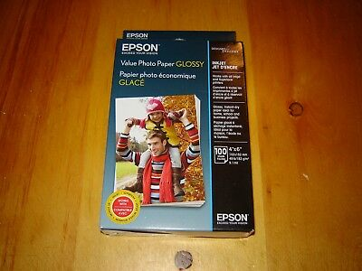 """Epson Value Photo Paper - Glossy 4""""x 6"""" 100 Sheets"""