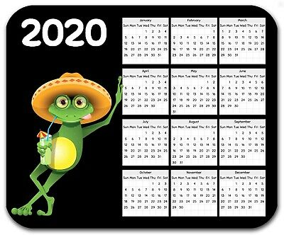 Mouse Pad Custom Thick Mousepad-Frog With Yearly Calendar-Your Text