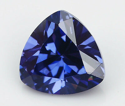 10x10mm AAA Blue Natural Zircon 6.13ct Trillion Faceted Cut VVS Loose Gemstone