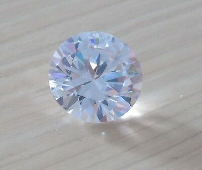 15mm AAA White Natural Zircon 20.08ct Round Faceted Cut VVS Loose Gemstone