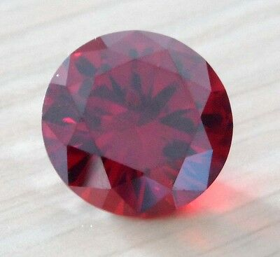 20mm AAA Natural Red Zircon Gems 47.16ct Round Faceted Cut VVS Loose Gemstone