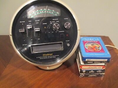 Weltron Model 2001 8-Track Tape Player AM-FM Radio in Good working Condition!