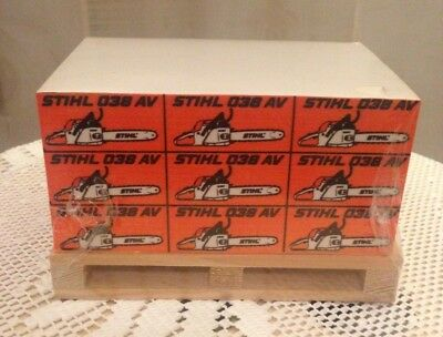 STIHL Chainsaw Promotional Blocked Note Pad Mini Wooden Pallet New/Sealed