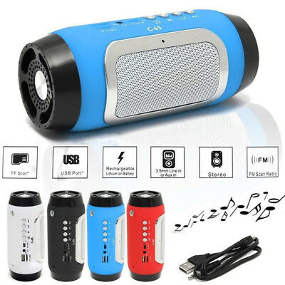 Bluetooth Wireless Portable Mini Stereo Speaker &MP3 FM For Smartphone Tablet PC