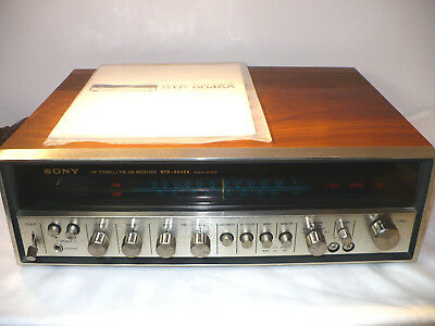 "Vintage 1971 ""sony Str-6046A Fm Stereo Receiver"" With Manual / Schematics - Mint"