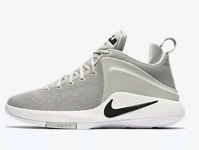 Nike Men s ZOOM WITNESS New LeBron sz 11 Grey Black Basketball Shoes 852439  011 a88d5dbfa32