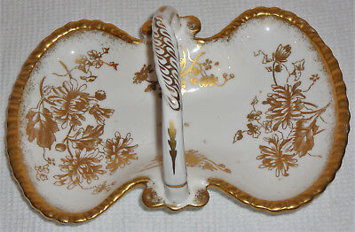 Hammersley Bone China bonbon dish with handle, made in England, vintage