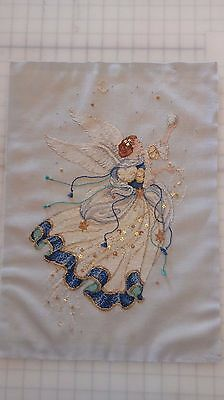 Dimensions Celestial Angel Cross Stitch picture Completed finished stars moon.