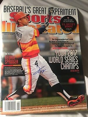 George Springer Signed Sports Illustrated Houston Astros NO Label mint conditon