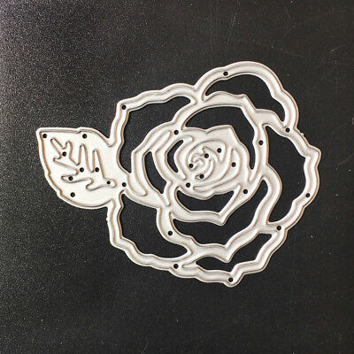 Rose Cutting Dies Stencil DIY Scrapbooking Embossing Album Paper Card Craft G