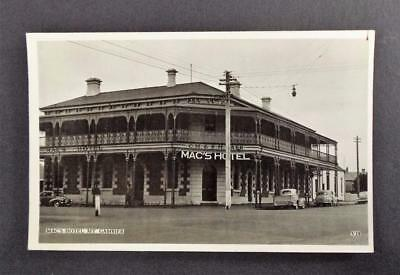 Vintage Postcard Real Photograph Mac's Hotel Mt. Gambier