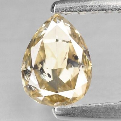 Fancy Yellow Diamond Pear 0.68 cts Loose Diamond Fancy Natural F631