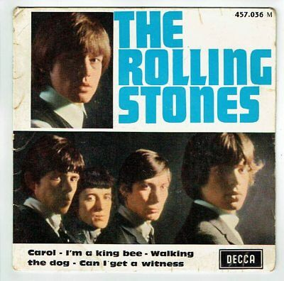 The ROLLING STONES Pochette VIDE 45T EP CAROL - WALKING DOG - DECCA 457036 RARE