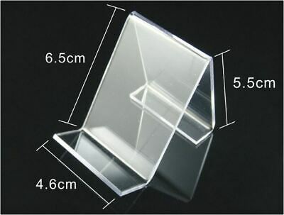 10 x ACRYLIC Clear Mobile Phone Wallet Shop Fitting Retail Display Rack Stand