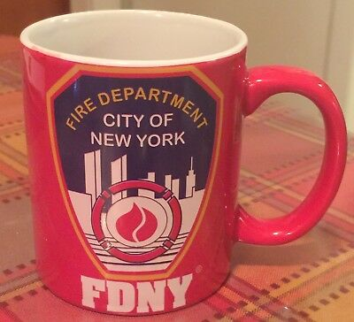 **NEW** 2008 Fire Dept. City of New York FDNY 11 Oz. Coffee Mug Souvenir RED