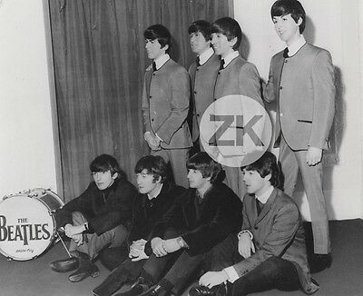 THE BEATLES Real vs Wax MADAME TUSSAUDS Lennon McCartney Mannequin Photo 1965