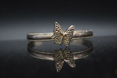 Sterling Silver Estate Plain Silver Butterfly Bracelet