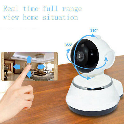 Wireless WIFI Webcam Pan Tilt 720P Network CCTV &Security IP Camera Night Vision