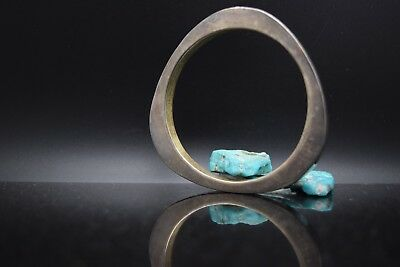 Sterling Silver Estate Plain Silver Bangle Bracelet
