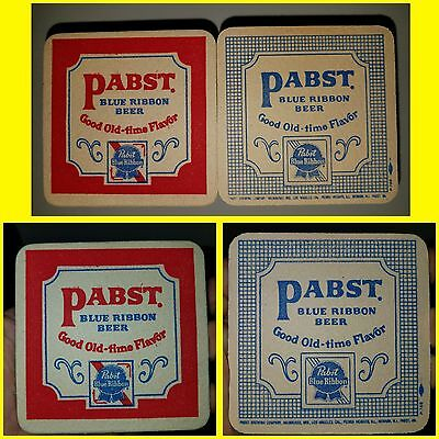 Pabst Blue Ribbon Beer Stack Double Sided Bar Coasters Sign 100 Count Unused Vtg