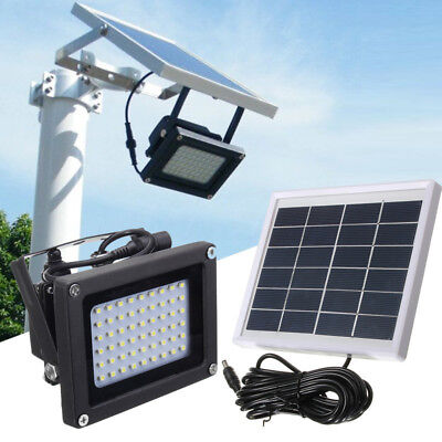 Solar 54 LED Light Sensor Flood Spot Lamp Garden & Outdoor Security Waterproof