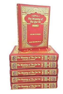 ENGLISH: Tafheem ul Quran:The Meaning of the Qur'an: Arabic/English (6 Vol)