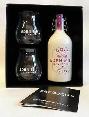 EDEN MILL Golf Gin - St. Andrews - 1x0,5L 42,0%vol - Gift Set + 2 Gläser