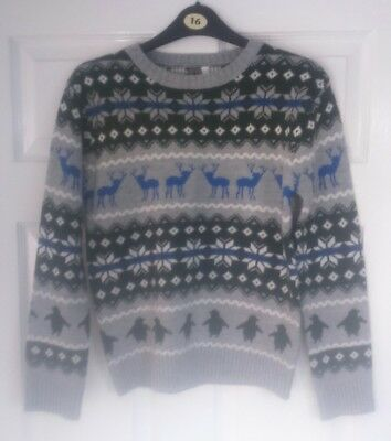 boys urban outlaws nordic Christmas jumper size 11 -12 years