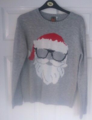 boys urban outlaws father Christmas winter jumper size 12-13 years