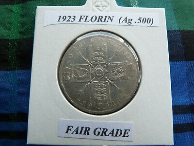 FAIR OR BETTER? 1923 FLORIN   (Silver .500)  George V