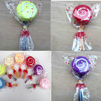 Lollipop Candy Towel Washcloth Wedding Favor Baby Shower Gift Dessert Wrap UKIY