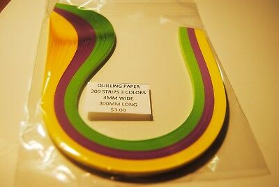 Quilling  Pack Of 300 Strips 4Mm Wide Gpy