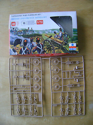ESCI British & French Artillery Soldiers. Scale 1:72. Complete and on Sprues.