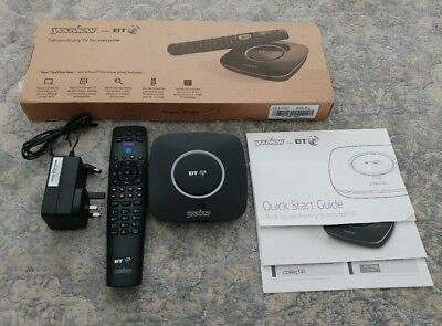 BT YouView TV Box with Remote and Manuals
