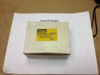 *** Lot of 20 ***, Parker RV01A1N100, Pop Off Relief Valves, New-In-Box