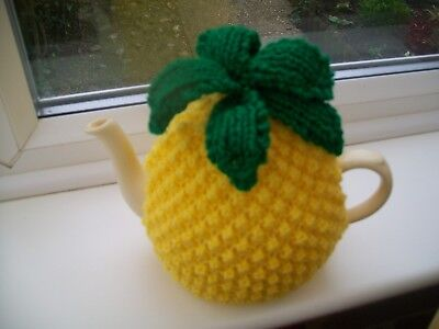 Hand Knitted  Pineapple  Tea Cosy For A Medium Teapot 3-4 Cup Size
