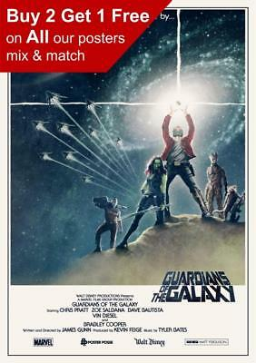 Guardians Of The Galaxy Star Wars Poster A5 A4 A3 A2 A1