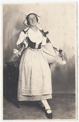 * LADY IN DUTCH FANCY DRESS - by Walkers of Scarborough - c1920s era photograph
