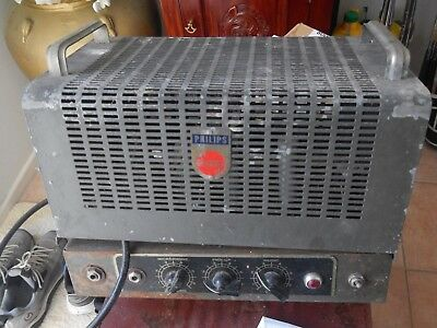 """Vintage Philips PA Amplifier """"with tubes"""" - PICKUP ONLY -"""