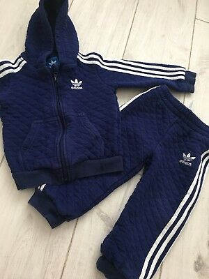 Baby Boys Adidas Tracksuit Age 18-24 Months