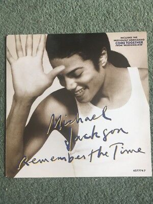 """Michael Jackson Remember The Time 7"""" Vinyl BW Come Together 1991"""