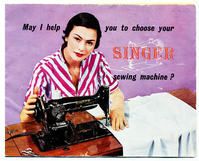 1951 Singer sewing machine advertising booklet includes Featherweight 221