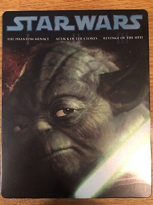 Star Wars Episodes 1 2 3 Blu-Ray Limited Edition Steel Case Collectors Item