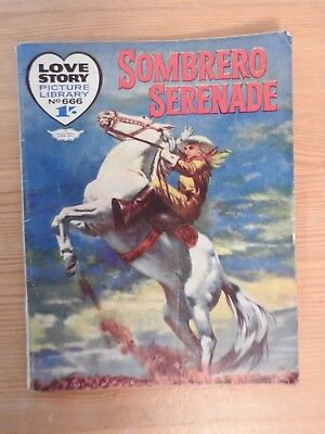 Love Story Picture Library #666 - Sombrero Serenade
