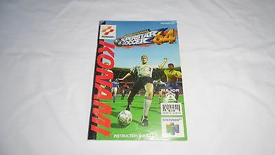 INTERNATIONAL SUPERSTAR SOCCER : INSTRUCTION MANUAL (BOOKLET) ONLY , nintendo 64
