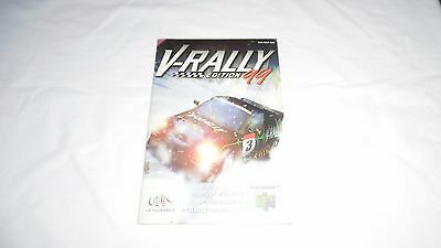 V-RALLY : 99 EDITION : INSTRUCTION MANUAL (BOOKLET) ONLY , nintendo 64