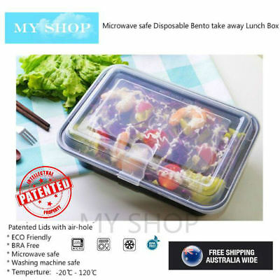 30 Pack Extra Thick Take away Lunch Box Food Container with Air Cap Lid -- 750ml