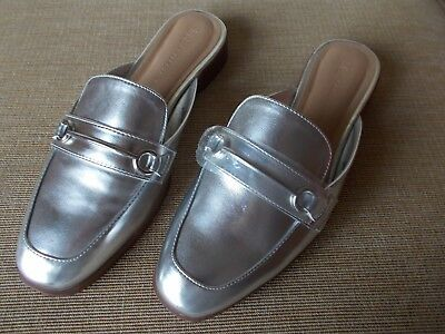 M And S Womens Silver Collection Insolia Shoes / Sandals / Mules - Uk 7 - Bnwt