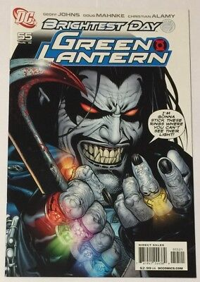 Green Lantern #55 (August 2010 DC) Lobo Variant Cover Brightest Day NM Condition