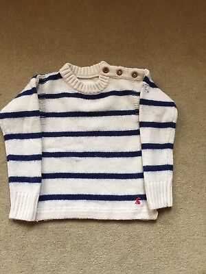 Joules Knitted Striped Wool Mix Jumper, Age 5